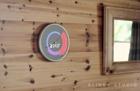 Glance+Clock+Hanging+on+Wooden+Wall+Weather