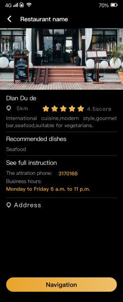Finding Restaurant
