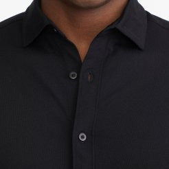 LUXE-TEE-BUTTON-DOWN_UNTUCKIT_SOLID_KNITS_WRINKLE-FREE_BLACK_3